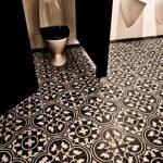 Portugese cementtegels toilet serie FLWZR BW