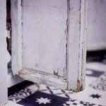Portugese cementtegel met sterretje