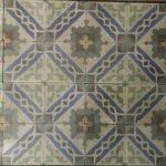 antieke cementtegels blauw