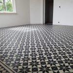 cementtegels zwart en wit
