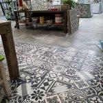 patchwork cementtegels zwart wit