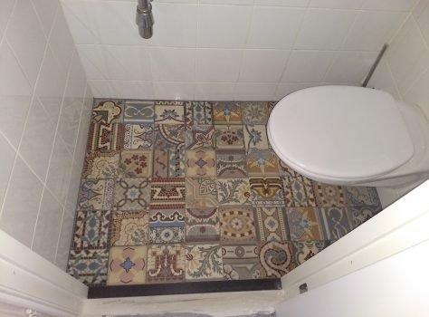 patchwork antieke patroontegels toilet