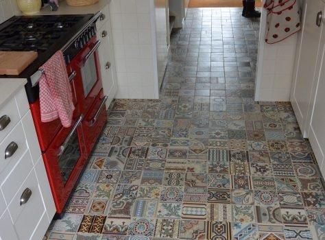 patchwork vintage tegels keuken