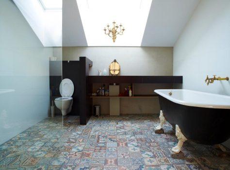 patchwork vintage patroontegels badkamer