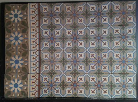 Oude vloertegels met patroon