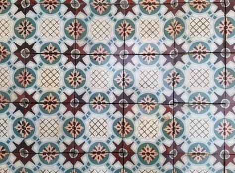 oude keramische vloerttegels