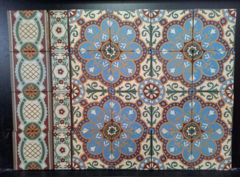 oude Art Nouveau vloer