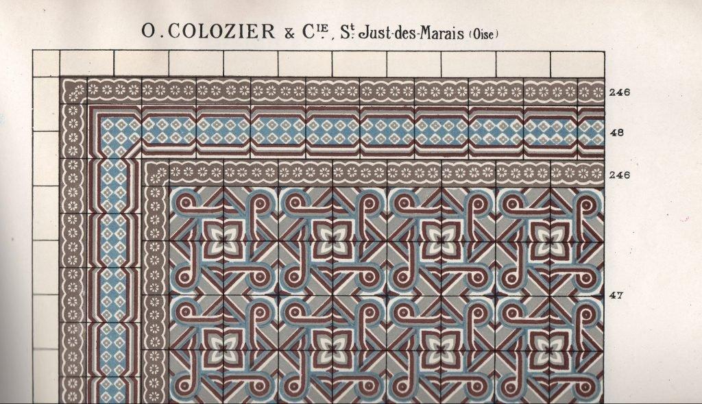 antieke cementtegels colozier