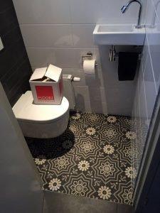 Marokkaanse cementtegels wc