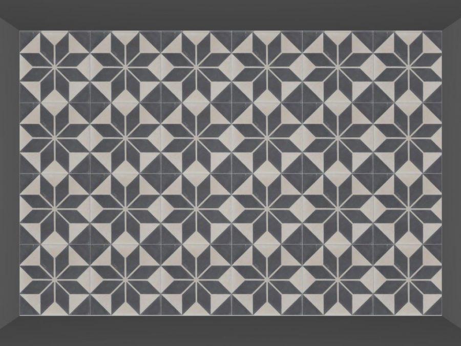 Portugese tegels en cementtegels serie astrea 20x20 cm - Credence cement tegels ...
