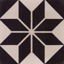 Portugese cementtegels zwart wit