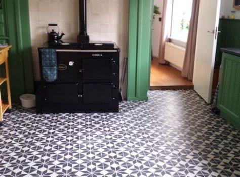 cementtegel astrea black keuken
