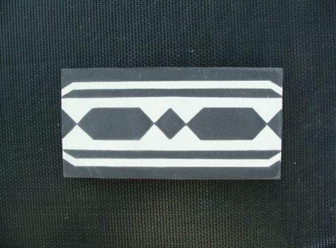 Portugese tegels rand en cementtegels BORDER 06-F18