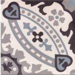 Portugese tegels zwart blauw grijs wit circlez 07b thumbnail