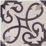 Portugese tegels zwart wit CURLZ white