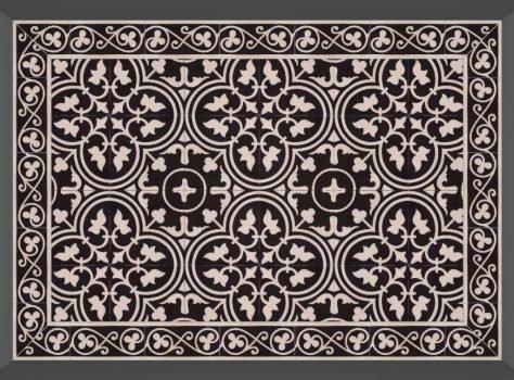 Portugese cementtegels Flowerz Zero BW of Negra 12