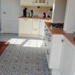 Portugese tegels keuken lilyz black