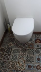 Portugese tegels mix toilet