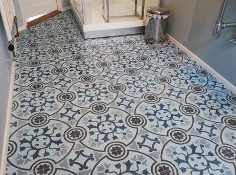 Portugese vloer badkamer
