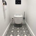 Portugese tegels toilet zwart en wit