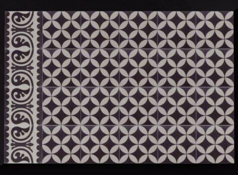 Portugese tegel zwart wit VCCZ04 20x20