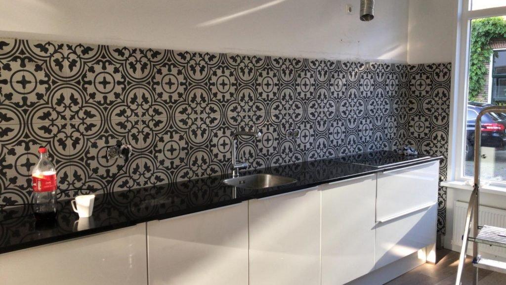Portugese tegels keuken achterwand