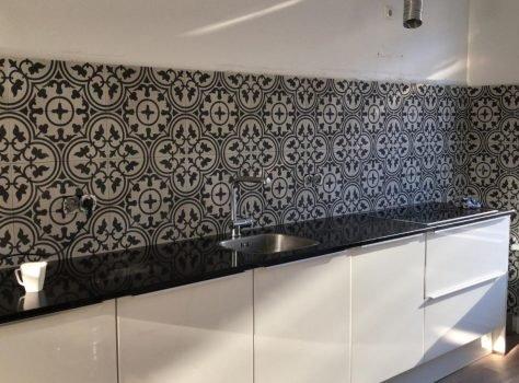 Portugese tegels keuken achterwand VN Negra 03