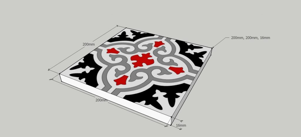 Portugese tegels dikte en afmetingen