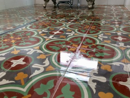 FLWRZ03 Portugese cementtegels badkamer