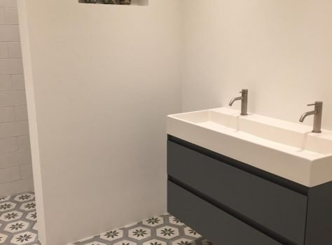 Portugese cementtegels badkamer hexa florence 01