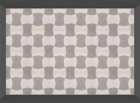 Portugese cementtegel TURTLE 01