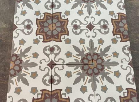 Portugese cementtegels FLWRZ10