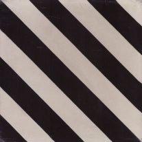 Portugese tegels foto stripe 01 black