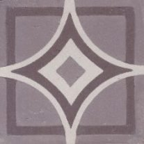 Portugese cementtegels CORNER 22 GREY