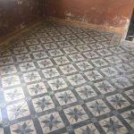 antieke cementtegels met stermotief