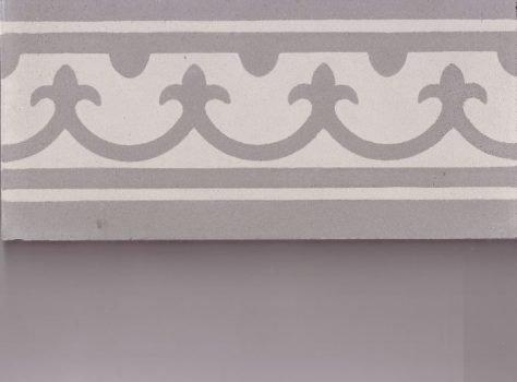 Portugese cementtegels B19 soft grey