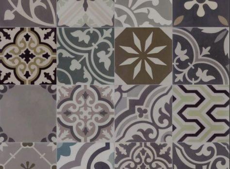 patchwork portugese cementtegels groen