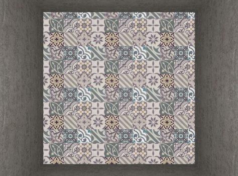 cementtegels patchwork groen