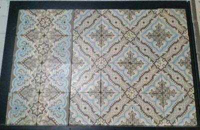 oude tegels vloer C162