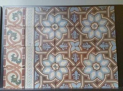 Oude,antieke vloertegels