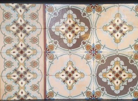 Art Nouveau patroontegels antiek