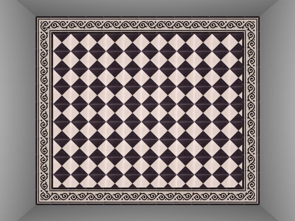Zwart Wit Tegels : Portugese tegels zwart wit floorz