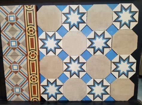 oude vloertegels achthoekig