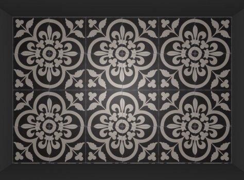 Azule tiles FLOWERZ 12 Black