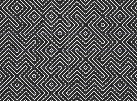 Designtegels met grafisch patroon serie Stripez 04