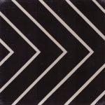 Portugese cementtegels zwart wit stripez