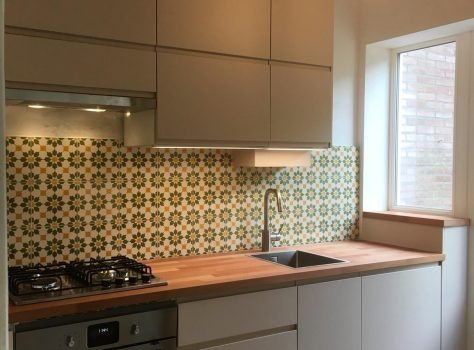 Portugese tegels achterwand keuken