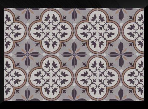 Portugese cementtegels Florence flower 03