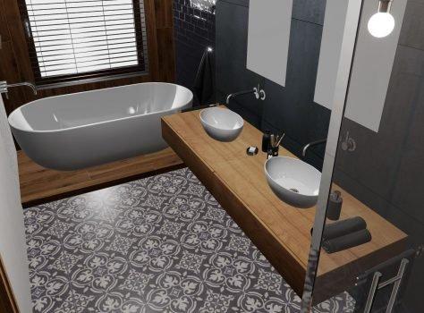 Portugese cementtegels badkamer ARLES 01
