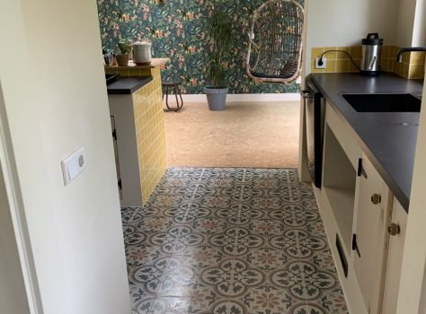 Portugese cementtegels keuken PRINTEMPS